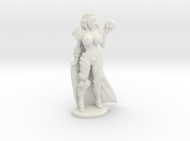 Dark Queen TOPLESS VARIANT w Cape Mini - 40mm in White Natural Versatile Plastic