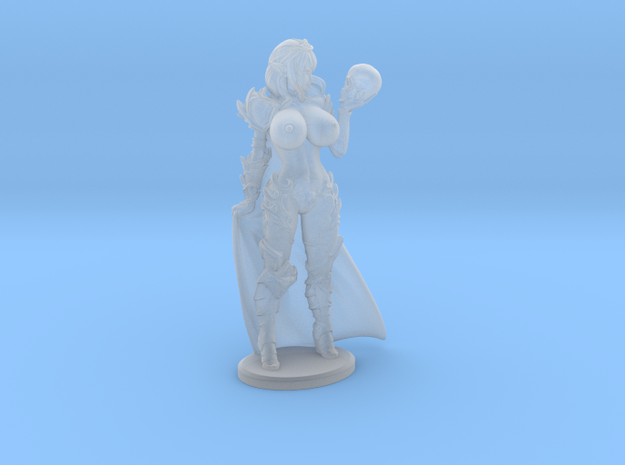 Dark Queen TOPLESS VARIANT w Cape Mini - 40mm in Smooth Fine Detail Plastic