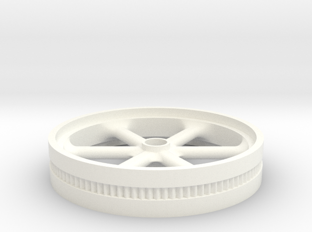 75mm Model Flywheel w/ starting gear in White Processed Versatile Plastic: 1:76 - OO