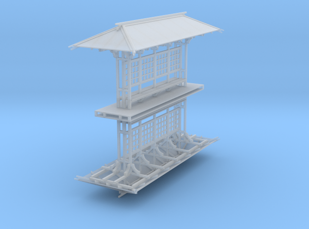 LAPAC Shelter without panes N Scale 2 Pk in Smooth Fine Detail Plastic