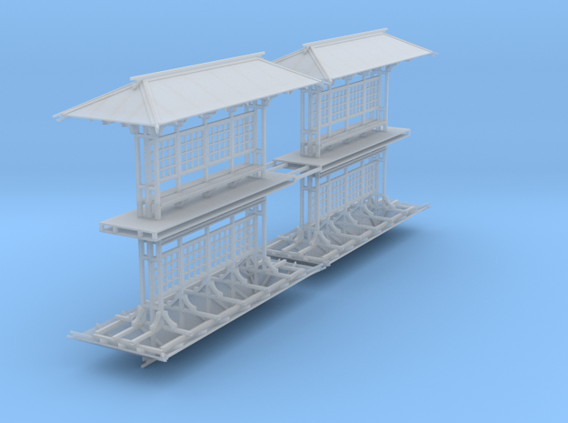 LAPAC Shelter without panes N Scale 4 Pk Flat in Smooth Fine Detail Plastic