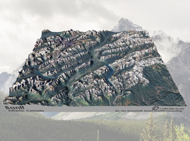 "Banff Region, Albert Canada: 8""x10"" in Matte Full Color Sandstone"