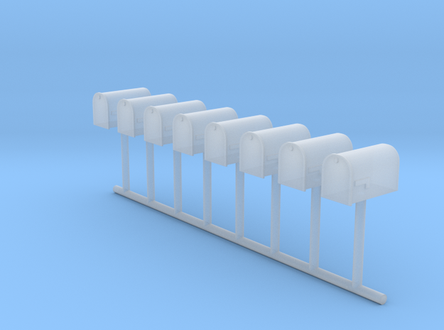 HO Scale Mailbox Set 1 in Smooth Fine Detail Plastic