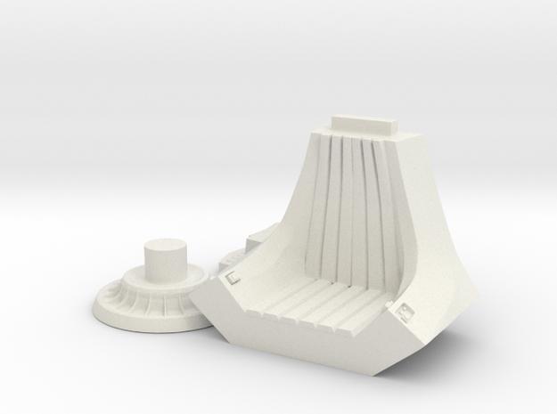 Imperial Throne in White Natural Versatile Plastic