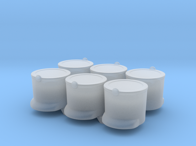 6 x French Shako T  in Smooth Fine Detail Plastic