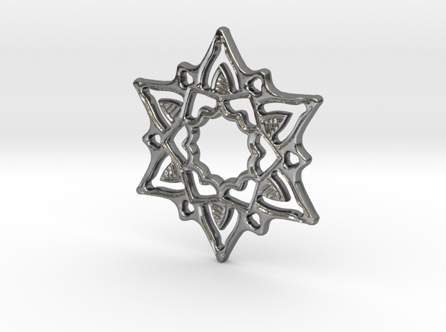 Breeze Star Pendant in Polished Silver