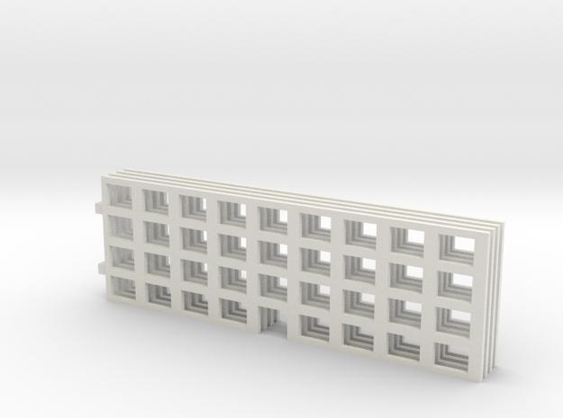 Miniature Building 02 in White Natural Versatile Plastic: 1:450 - T