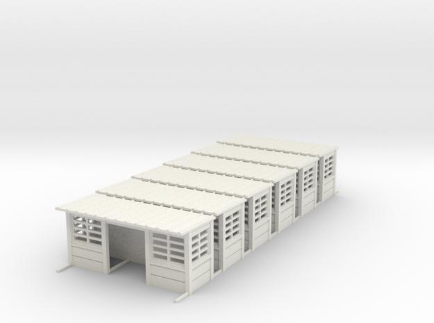 Abris de quais beton sncb HO 6 piece in White Natural Versatile Plastic: 1:87 - HO