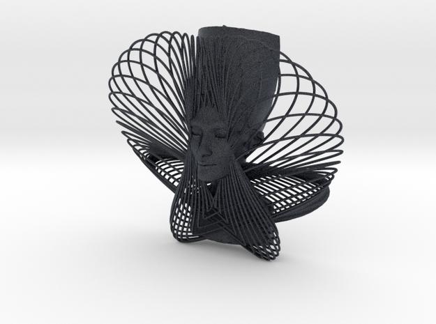 Enneper Curve Art + Nefertiti (001b) in Black PA12