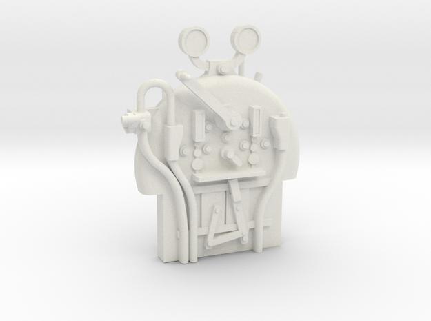 G1 - 9.5 - FR E1 - J1 - Backhead Controls in White Natural Versatile Plastic