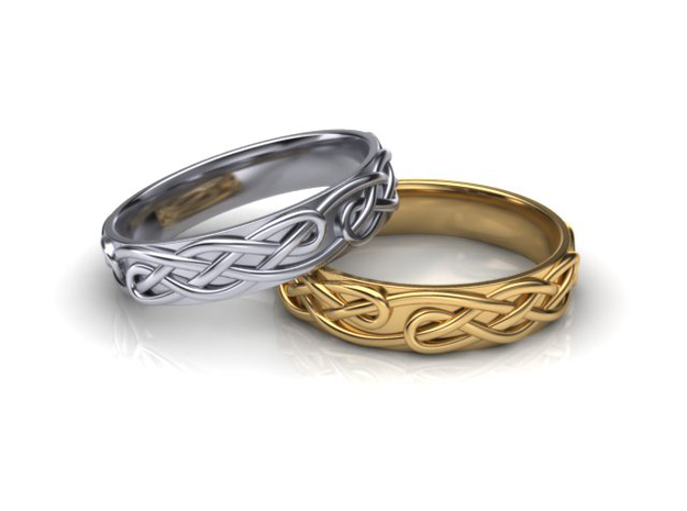 Ornament ring 1 in 18k Gold Plated Brass: 5.5 / 50.25