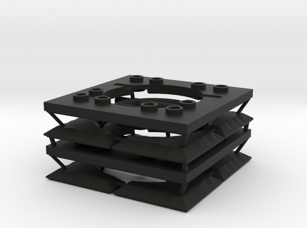 Sewer Grate Set in Black Natural Versatile Plastic