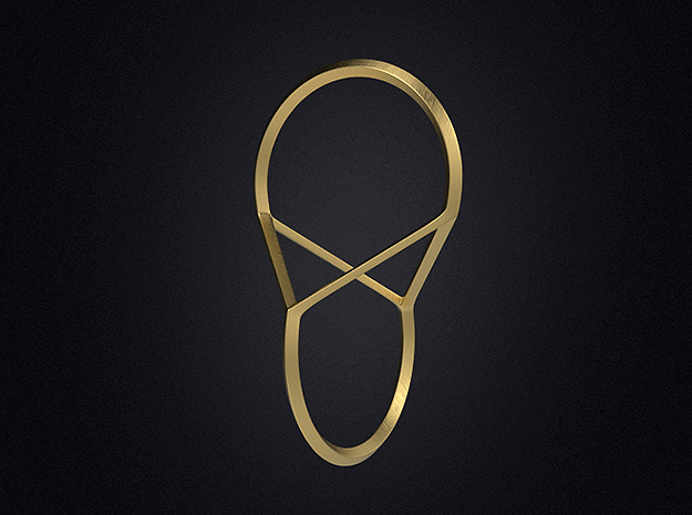 Oloid Minima in Polished Gold Steel