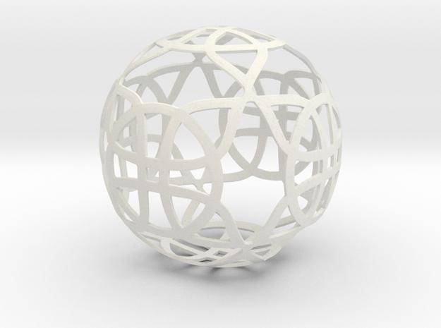 Celtic knot ornament (3) in White Natural Versatile Plastic
