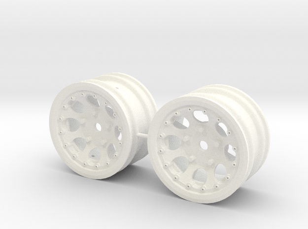 M-Chassis Wheels - NSU-TT Spiess Style - +1mm in White Processed Versatile Plastic