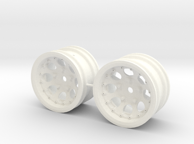 M-Chassis Wheels - NSU-TT Spiess Style - +4mm in White Processed Versatile Plastic