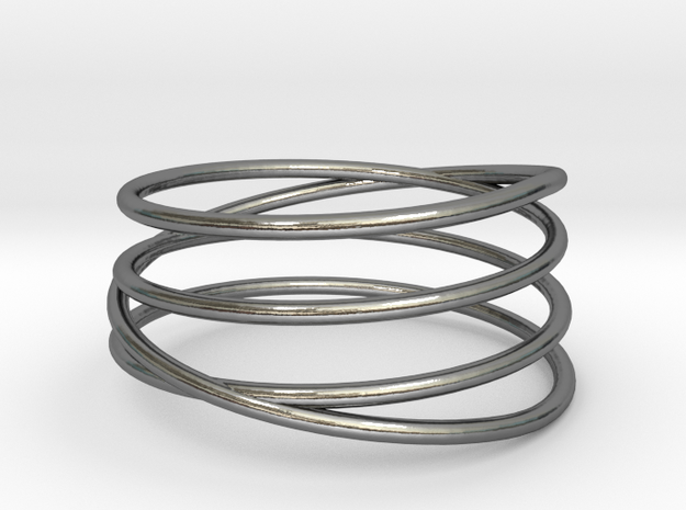 Spiral Band in Polished Silver