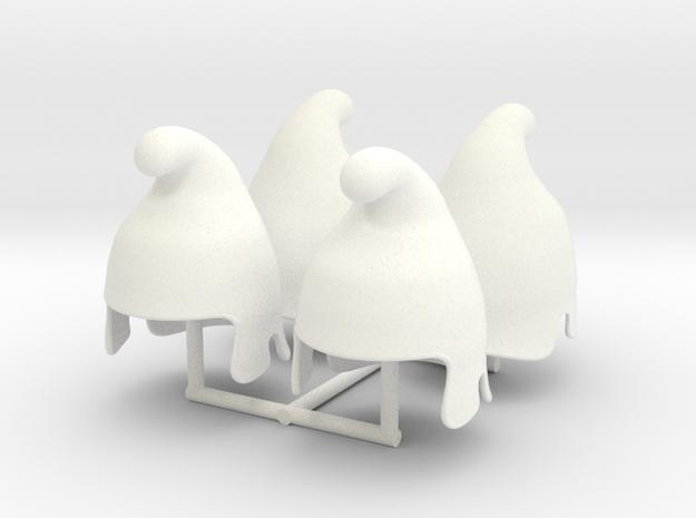 PERSIAN HELMET 2x4  in White Processed Versatile Plastic