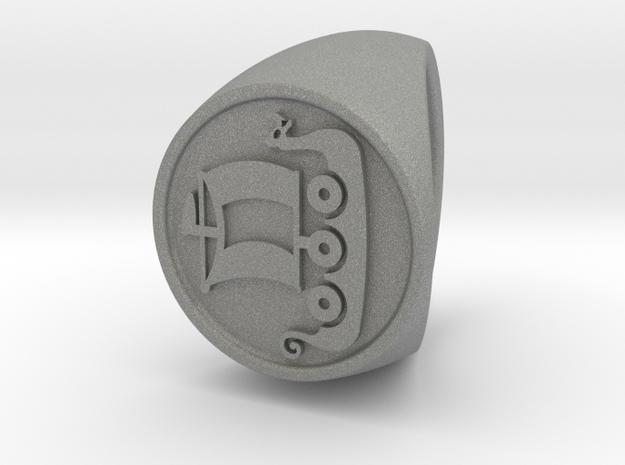 Custom signet ring 56 Size 18.5 in Gray PA12