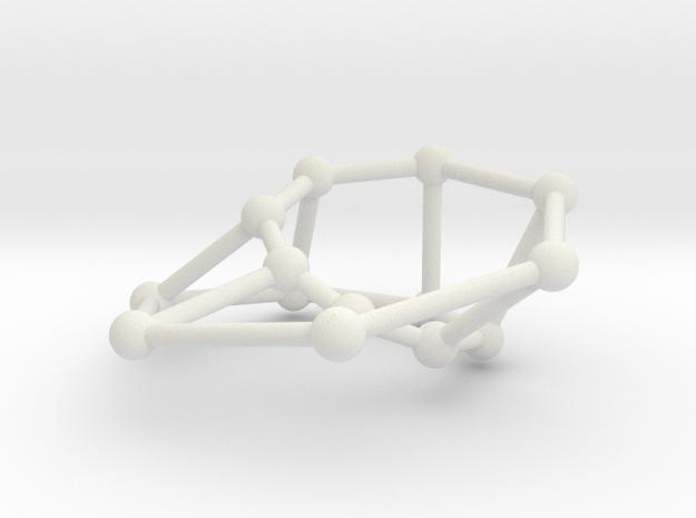 Möbius ladder M_14 in White Natural Versatile Plastic