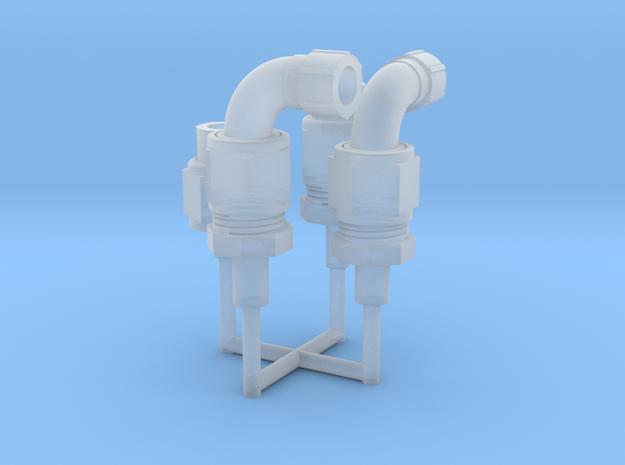 1:8 BTTF Delorean hydraflow set of 2 in Smoothest Fine Detail Plastic