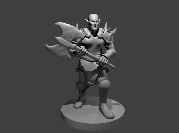Elven Barbarian in Smooth Fine Detail Plastic
