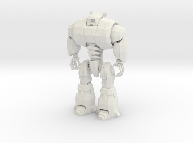 Musclebot in White Natural Versatile Plastic