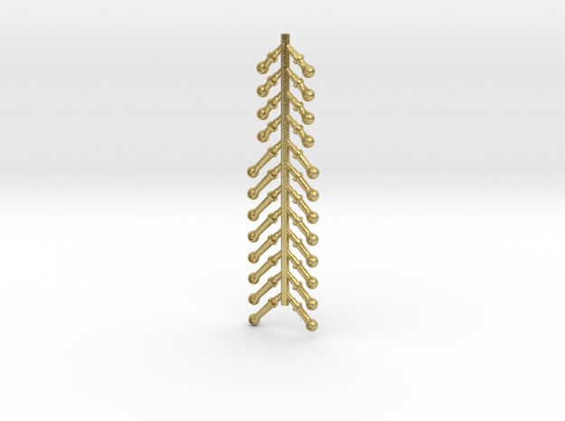 24PK G SCALE BOILER STANCHION  in Natural Brass