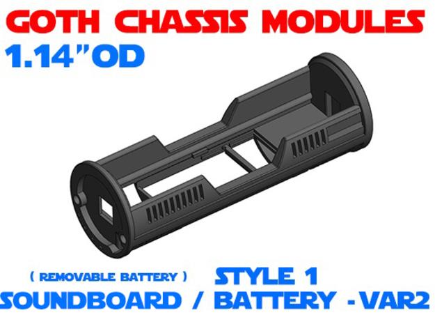 GCM114 - Soundboard Lightsaber Chassis Var2 St1 in White Natural Versatile Plastic
