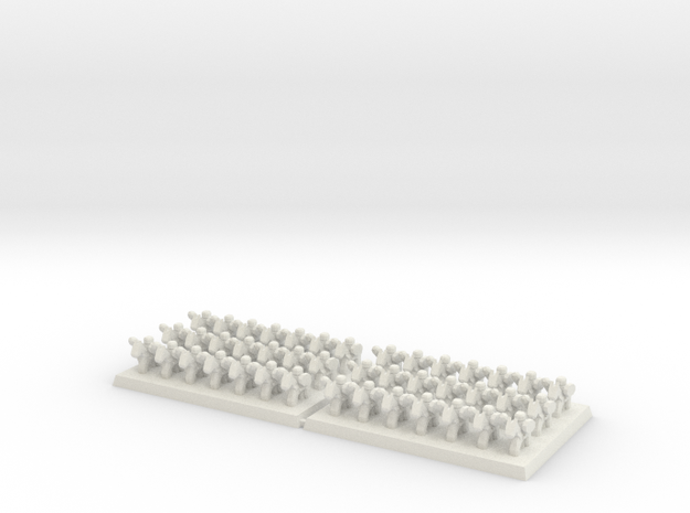 3mm DBA Cavalry Based 40x30mm (x2)  in White Natural Versatile Plastic