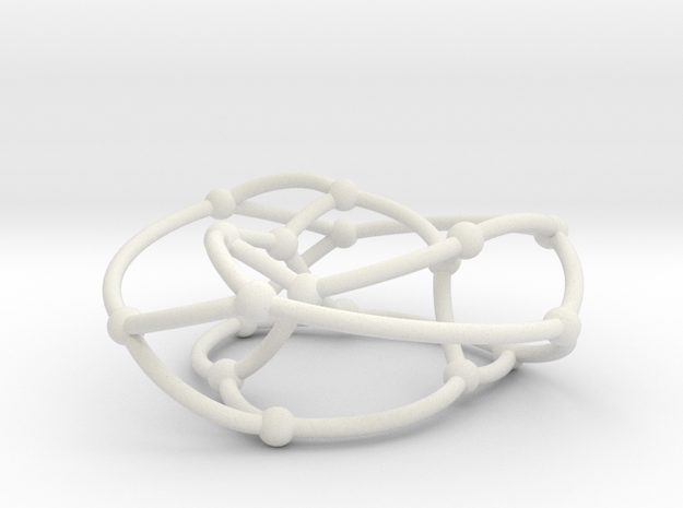 Pappus graph on torus in White Natural Versatile Plastic
