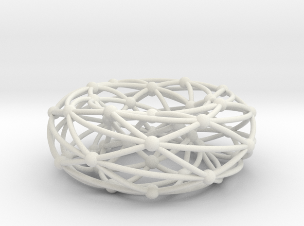 Shrikhande graph on torus in White Natural Versatile Plastic