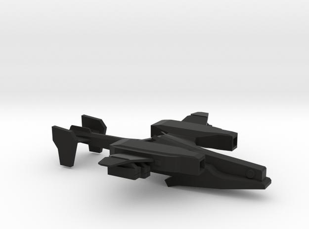 CG-408A Guardian Attack Gunship in Black Natural Versatile Plastic: 1:200