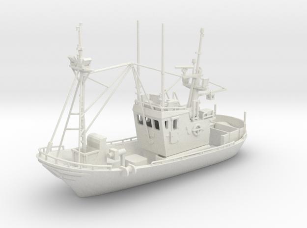 Fishingboat Ver01 .  1:96 Scale in White Natural Versatile Plastic