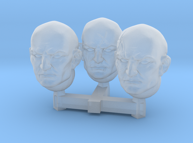 Brothers of Battle head shaved in Smoothest Fine Detail Plastic