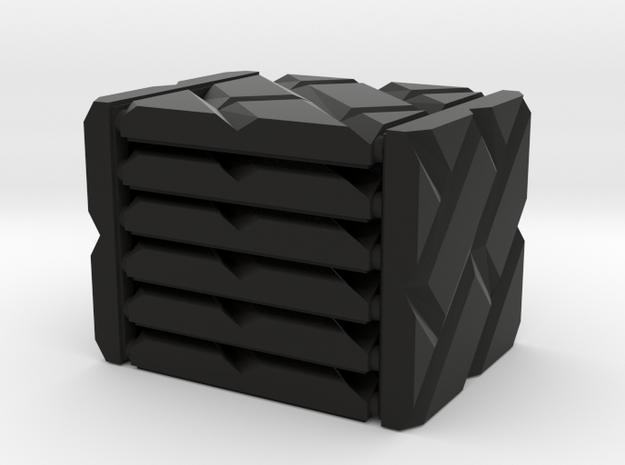 3 x 3 Brick Road Set in Black Natural Versatile Plastic