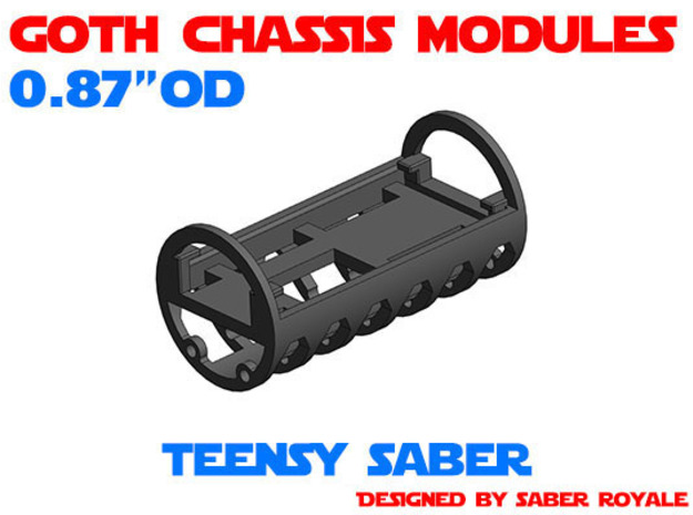 GCM087 - Teensy Saber soundboards chassis in White Natural Versatile Plastic