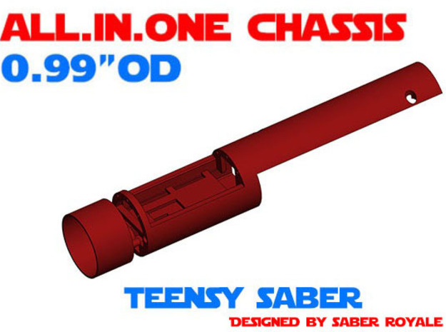 """ALL.IN.ONE - 0.99""""OD - Teensy Saber in White Natural Versatile Plastic"""