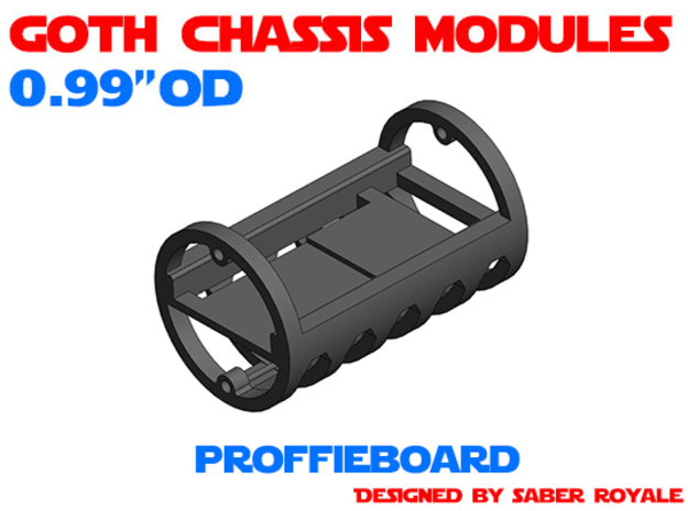 GCM099 - ProffieBoard soundboards chassis in White Natural Versatile Plastic