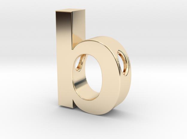 Typeberlin B Pendant in 14k Gold Plated Brass