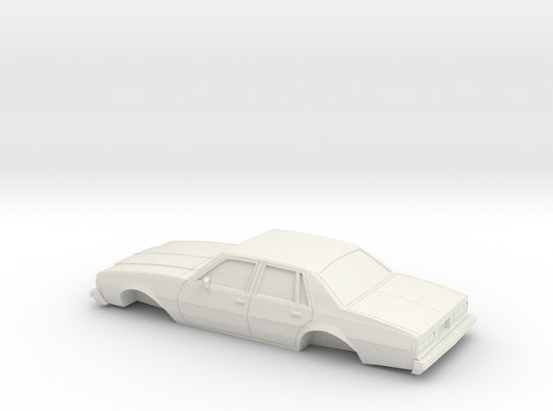1/32 1977-78 Chevrolet Impala Sedan Shell in White Natural Versatile Plastic