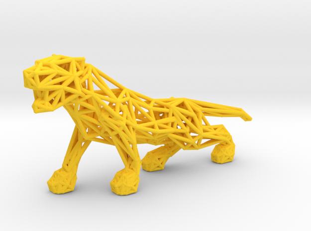 Tiger in Yellow Processed Versatile Plastic