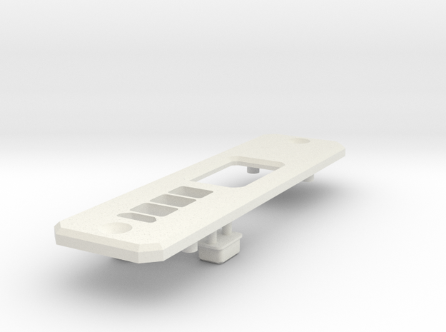 DNA250C faceplate, no fire button in White Natural Versatile Plastic