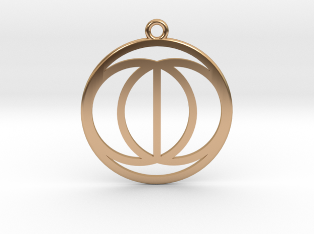 Vesica Picis in Polished Bronze