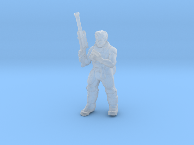 Cyber Commando Miniature (28mm Scale) in Smooth Fine Detail Plastic
