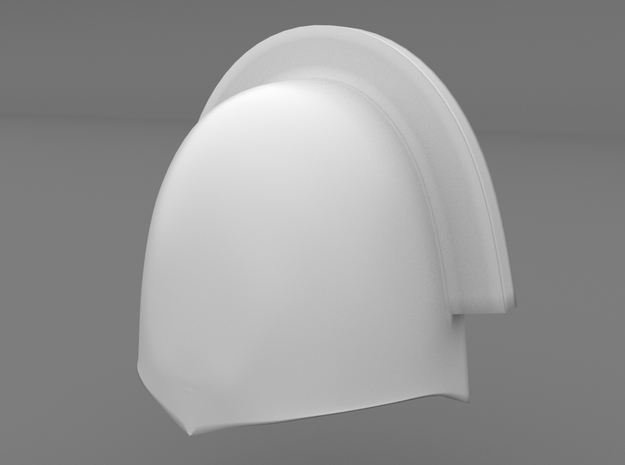Pauldron_18 in Smooth Fine Detail Plastic