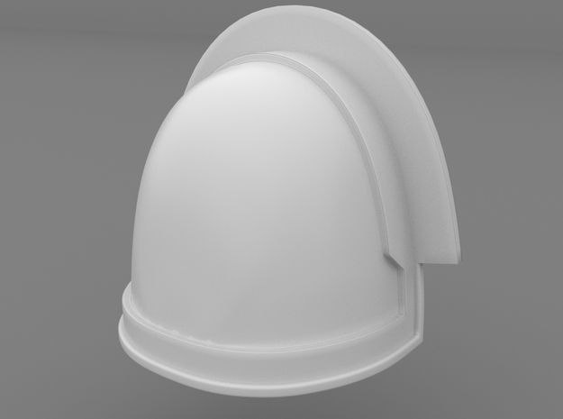 Pauldron_27 in Smooth Fine Detail Plastic