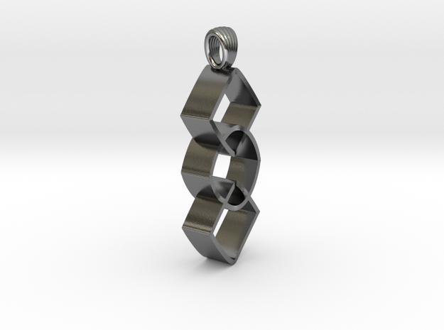 Groupe of impossible cylinders [pendant] in Polished Silver