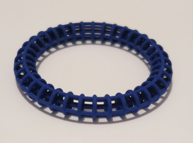 Bangle Bracelet Ribbed 3d printed