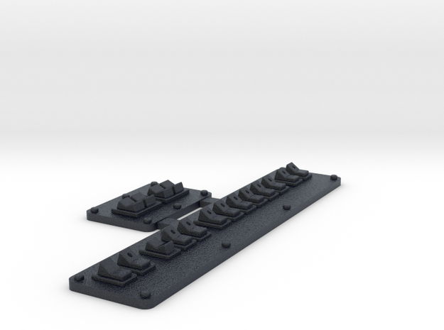 Switches  in Black PA12: 1:10